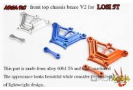 Area Rc Front top chassis brace for LOSI 5IVE-T | Chassis Parts | Used / Clearance Items