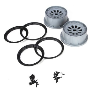 LOSB7027 WHEEL AND BEADLOCK SET 2 PCE | Wheels & Tyres | Losi 5ive