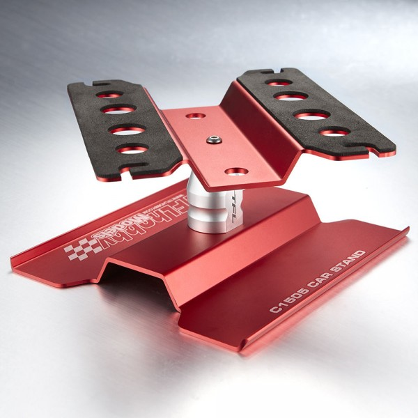 Tfl Rc Car Stand With Rotating Plate In Red Color Tools