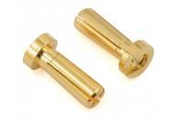 """ProTek RC 4mm Low Profile """"Super Bullet"""" Solid Gold Connectors (2 Male)"""