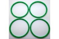 Silverback v3 Lipped Outer HD Beadlocks for Baja 5b/T/SC and Losi 5ive - Green