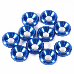 M3 Countersunk Washer Blue 8pcs   Bolts, Screws, Nuts