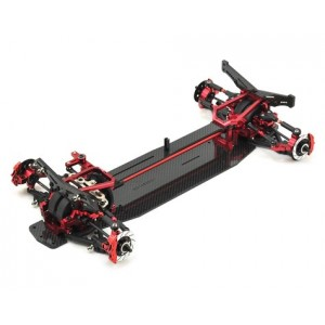 MST XXX-D VIP 1/10 Scale Front Motor 4WD EP Shaft Driven Car (Red) ARR - No Body | Drifting | KITS