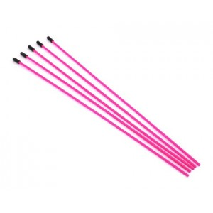 ProTek RC Antenna Tube w/Caps (Flo Pink) (5) | Antenna Tubes  | Look Whats New