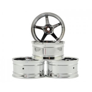 MST GT Wheel Set (Chrome/Black Chrome) (4) (Offset Changeable) | Wheels