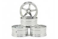 MST GT Wheel Set (Chrome/Matte Silver) (4) (Offset Changeable) | Wheels