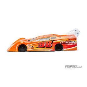 Protoform Cyclone 9.5 Dirt Oval Late Model Body (Clear) | 1/10 Scale | Look Whats New | Bodies/Wings