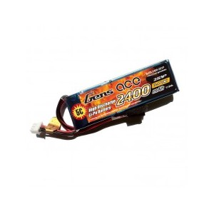 Gens Ace Lipo Battery for Receiver 7.4v 2400mAh RX For 1/8th Stick Type RX Box 90x29x17mm 90g | LIPO | Home
