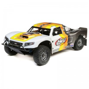 1/5 5IVE-T 2.0 4wd SCT Gas BND: Grey/Orange/White by LOSI | Large Scale Off Road Cars
