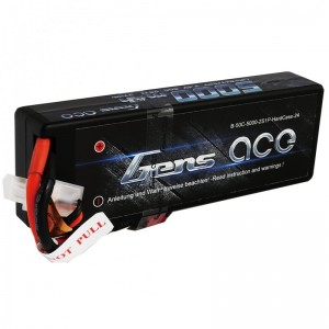 Gens Ace Black 5000mAh 7.4v 2S 50C - GA5000-2S50 | LIPO | Batteries