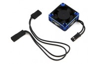 ProTek RC 30x30x10mm Aluminum High Speed HV Cooling Fan (Blue/Black) | ESC and Motors